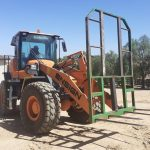 loader with forklift attachment